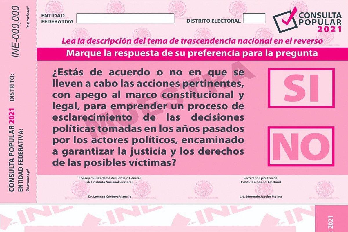 INE aprueba papeleta para consulta popular sobre juicio a expresidentes -  Luis Cárdenas